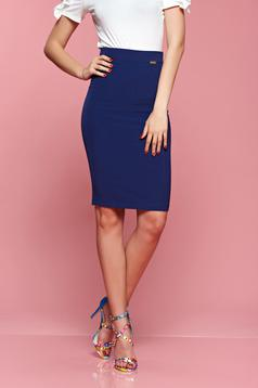 PrettyGirl high waisted form-fitting blue skirt