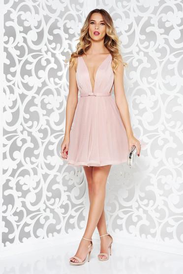 Ana Radu cloche net occasional rosa dress