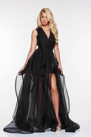 Ana Radu black cut back occasional dress