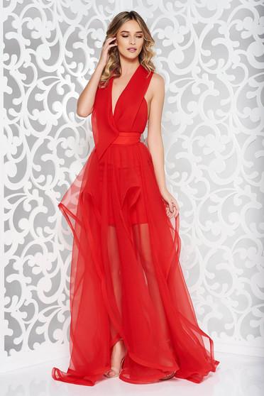 Ana Radu red cut back occasional dress