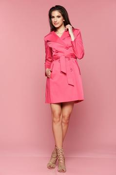 LaDonna pink trenchcoat long sleeve with pockets