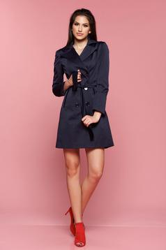 LaDonna darkblue trenchcoat long sleeve with pockets