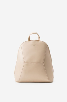 Cream ecological leather bag with adjustable straps