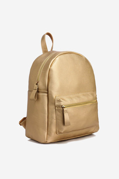 Casual gold bag with zipper details pockets