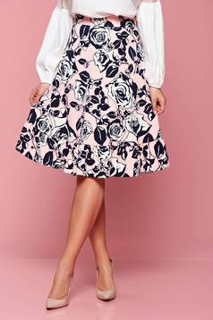 LaDonna rosa flared skirt with floral prints