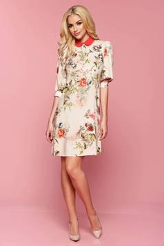 PrettyGirl Spring Affair Cream Dress