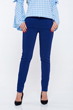 PrettyGirl blue office trousers with pockets