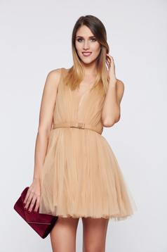 Ana Radu occasional cream cloche net dress with cut back