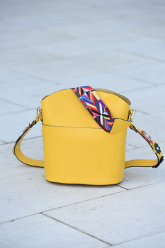 Yellow bag leather
