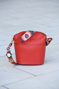 Red bag leather
