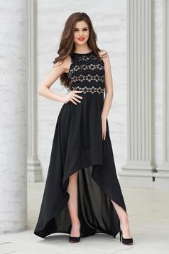 Occasional StarShinerS black asymmetrical sleeveless dress