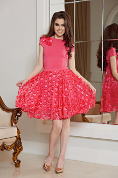 StarShinerS coral occasional cloche short dress with floral details