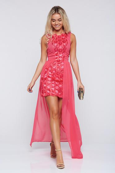 Occasional StarShinerS coral asymmetrical short dress