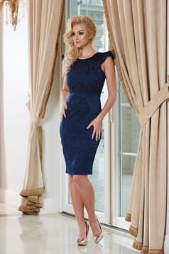 StarShinerS darkblue elegant pencil sleeveless dress