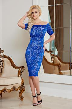Occasional StarShinerS blue laced on the shoulders dress