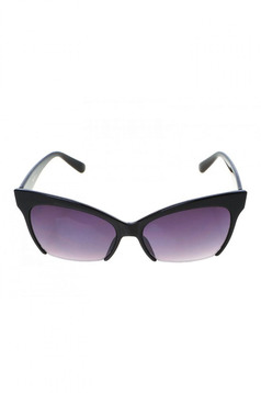 Black cat-eye lens sunglass