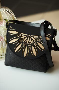 Black bag with long, adjustable handle