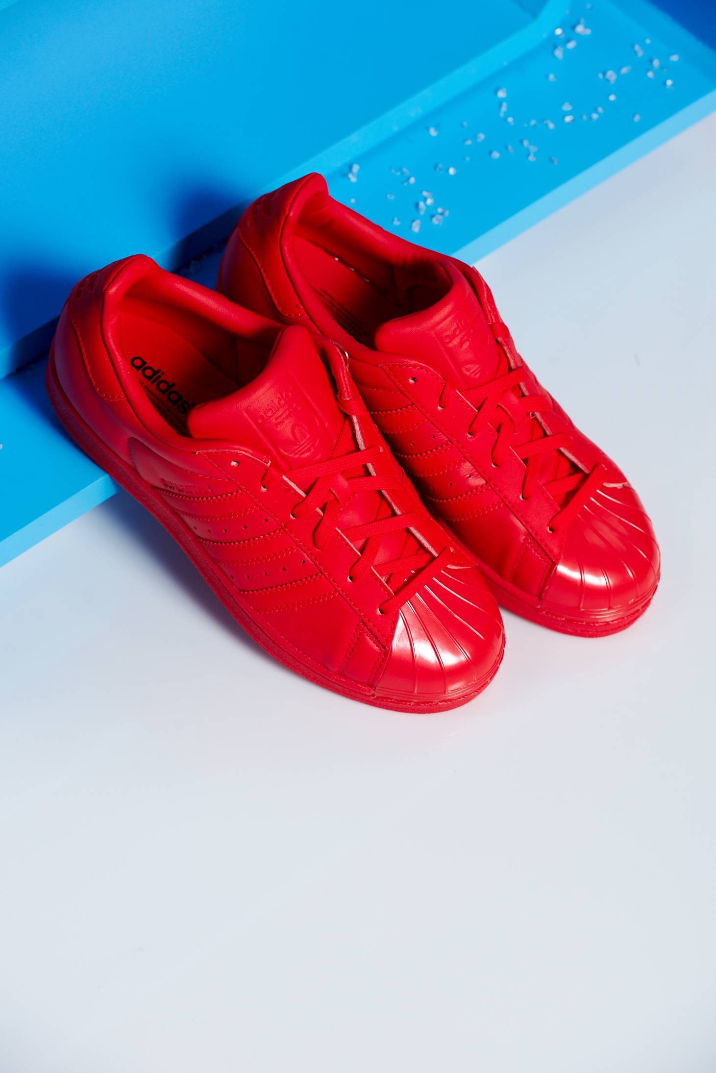 premium selection 780d8 364d7 Adidas red superstar 80s originals sneakers with lace