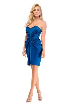 Ana Radu turquoise occasional pencil dress with satin fabric texture
