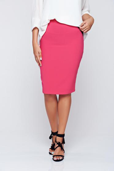 Fofy office pink high waisted pencil skirt