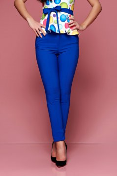 Fofy office conical blue trousers with medium waist