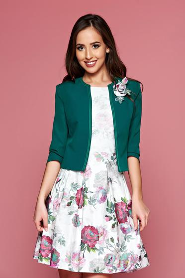 LaDonna tented green jacket 3/4 sleeves
