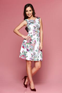 LaDonna rosa sleeveless dress with floral prints