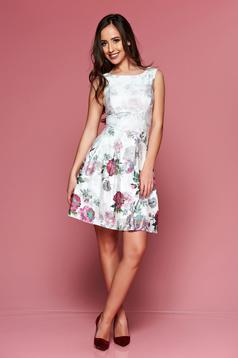 LaDonna lila sleeveless dress with floral prints