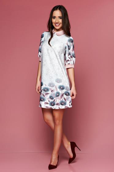 PrettyGirl cream easy cut dress with floral prints