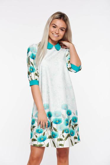 PrettyGirl mint easy cut dress with floral prints