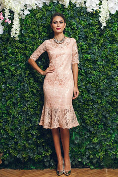 PrettyGirl elegant peach laced dress