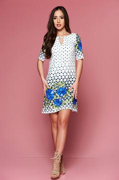 Easy cut LaDonna blue dress with graphic print