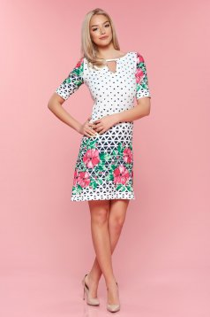 Easy cut LaDonna rosa dress graphic print