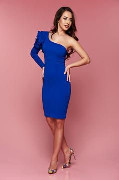 One shoulder LaDonna occasional blue pencil dress