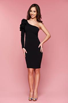 One shoulder LaDonna occasional black pencil dress