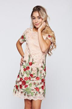 Artista pink laced embroidered dress