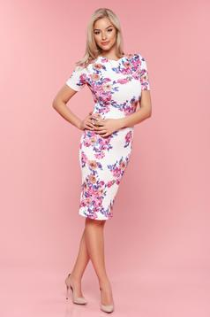 StarShinerS white daily pencil dress with floral prints