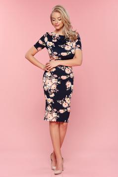 StarShinerS darkblue daily pencil dress with floral prints