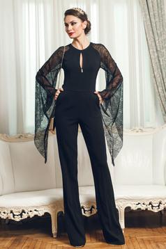 PrettyGirl black elegant jumpsuit laced sleeves