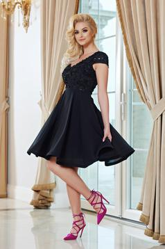 StarShinerS black short sleeve occasional dress S-027660 cloche