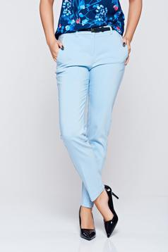 Top Secret blue conical cotton trousers with medium waist