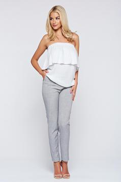 Top Secret grey conical trousers with pockets with medium waist