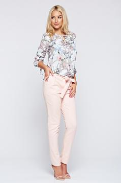 Top Secret rosa office trousers with pockets with medium waist