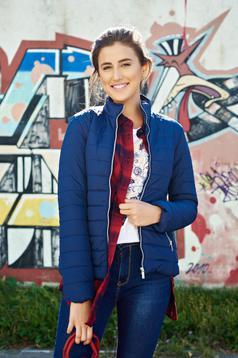 Top Secret darkblue casual jacket zipper details pockets