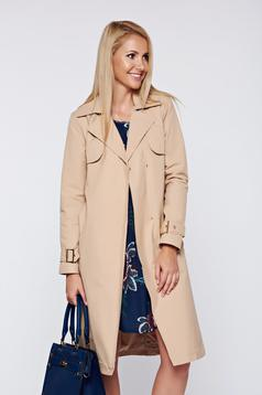 Top Secret peach trenchcoat casual straight with pockets
