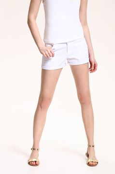 Top Secret casual white short with pockets and medium waist