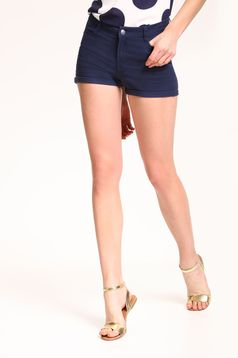 Top Secret casual darkblue short with pockets and medium waist