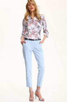 Top Secret rosa long sleeve women`s shirt with floral prints