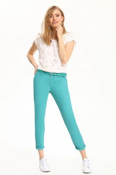 Top Secret turquoise conical trousers with pockets