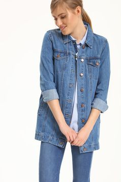 Top Secret casual blue denim jacket with pockets